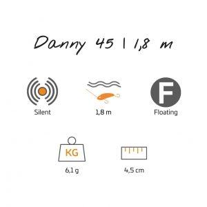 Danny 4,5 cm   1,8 m F